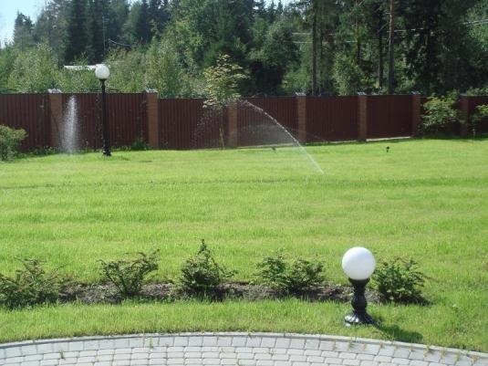 Система полива на загородном участке в Мостовой